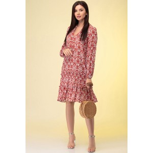 PRESTIGEMODA 3886 Платье (красный)
