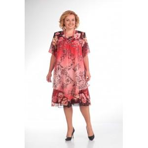 PRETTY 242 Платье красные-тона