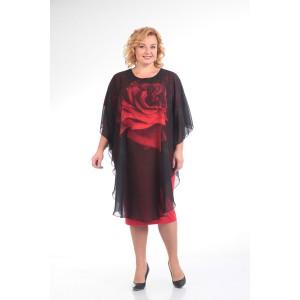 PRETTY 616 Платье черный+красный