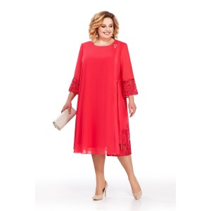 PRETTY 837 Платье (красный)