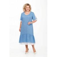 PRETTY 898 Платье (голубой)