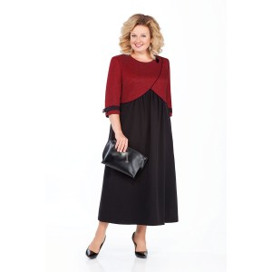 PRETTY 926 Платье (черный/бордо)