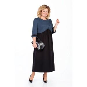PRETTY 926 Платье (черный/синий)
