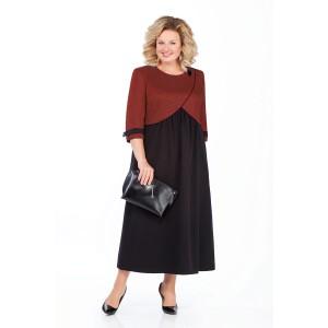 PRETTY 926 Платье (черный/терракот)