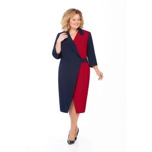 PRETTY 929 Платье (темно-синий/бордо)