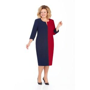 PRETTY 930 Платье (темно-синий/бордо)