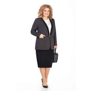 PRETTY 950 Комплект юбочный (темно-серый/черный)