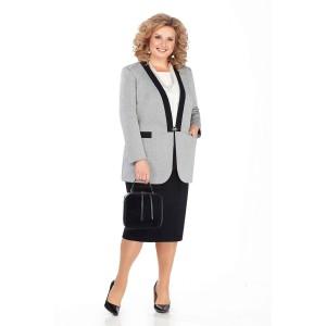 PRETTY 950 Комплект юбочный (серый/черный)
