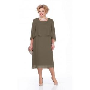 PRETTY 976 Платье (олива)