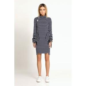 PRIO 168080 Платье (бело-синий)