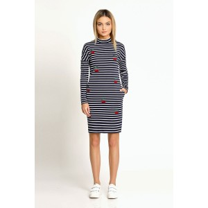 PRIO 168480 Платье (бело-синий)