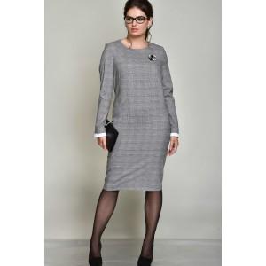 ROMA MODA M141 Платье (диз. клетка серый)