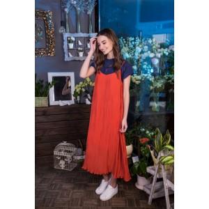 R.O.S.E. 0182 Платье (белый с полосками)