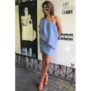 R.O.S.E. 0760 Платье (голубые тона)