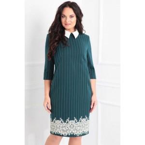 SANDYNA 13334 Платье (зеленый+полоска)
