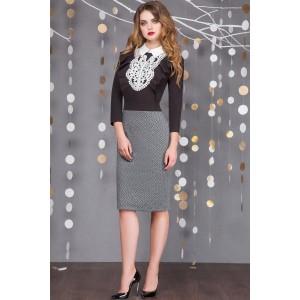 SANDYNA 13336 Платье (серый+ромб)