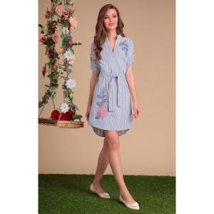 SANDYNA 13422 Платье (синий/белый)