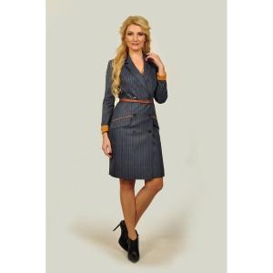 SANDYNA 13537-1 Платье (синий/полоска)