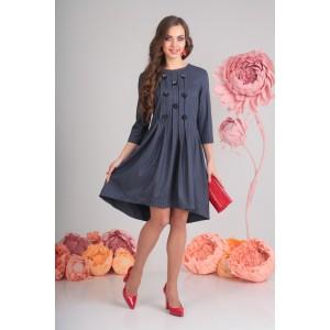 SANDYNA 13545 Платье (синее,полоска )