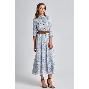 SODA 0214 Платье (серо-голубой)