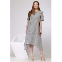 SOVA 11008 Платье  (серый диз. полоска)