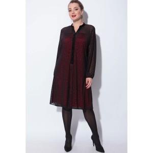 SOVA 11048 Платье (черно-красный)