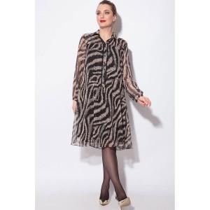 SOVA 11048 Платье (черно-беж)