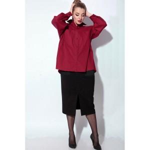 SOVA 11083 Костюм юбочный (бордо, черный)