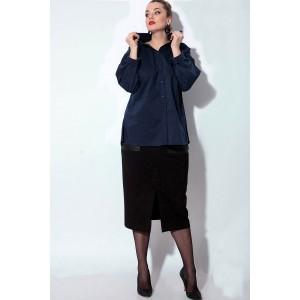 SOVA 11083 Костюм юбочный (синий,черный)