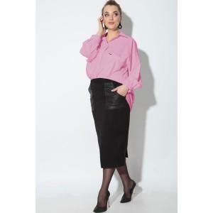 SOVA 11083 Костюм юбочный (розовый,черный)
