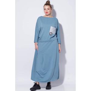 SOVA 13031/1 Костюм юбочный (голубой)