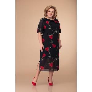Svetlana-Style 1404 Платье (красные цветы.)