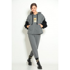 TAIER 1016 Спортивный костюм (серый меланж)