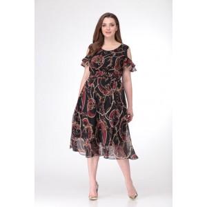 TAIER 704 Платье (темный мультиколор)
