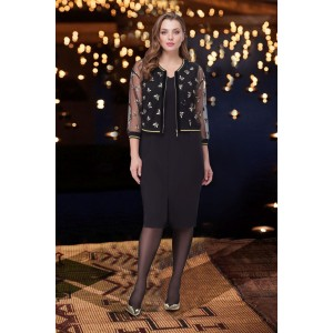TAIER 818 Платье с куркой-бомбером