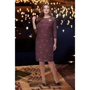 TAIER 819 Платье (вишневый перламутр)