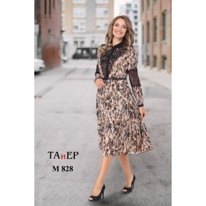 TAIER 828 Платье (пудра мультиколор)