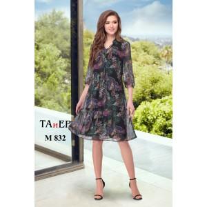 TAIER 832 Платье (огурцы на темном фоне)