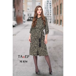 TAIER 834 Платье (темная фисташка)