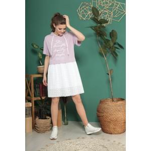 TAIER 955 Платье (лаванда-экрю)