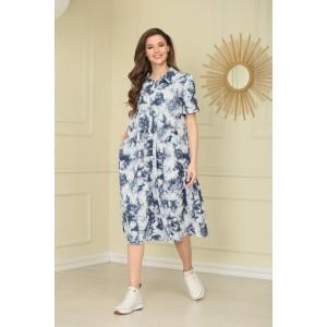 TAIER 993 Платье (синий джинс)