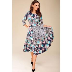 TEFFI 1217 Платье (бирюзовые цветы)