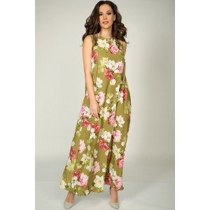TEFFI 1390 Платье (олива)