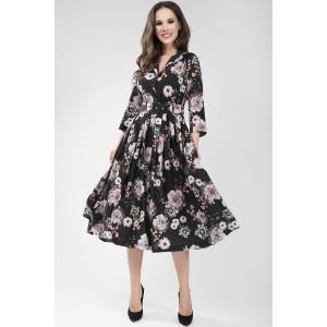 TEFFI 1425 Платье (герберы на черном)