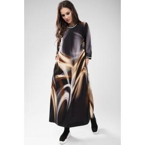 TEFFI 1432 Платье ( коричневые разводы)