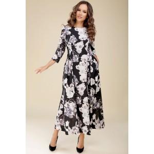 TEFFI 1437 Платье (графитовые цветы)