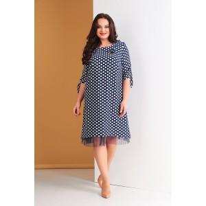 TENSI 265 Платье (синий+белый)