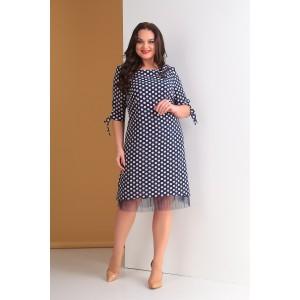 TENSI 265 Платье (синий+пудра)
