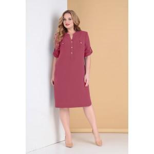 TENSI 284 Платье (бордово-розовый)