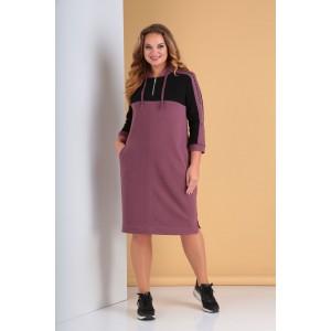 TENSI 296 Платье (пепельно-розовый)